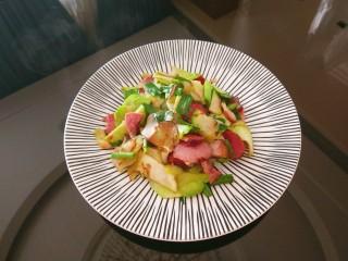 兒菜炒肉片,成品圖