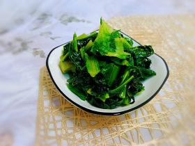 清炒萵筍葉