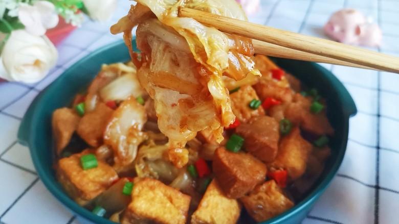 白菜炒豆腐,超级美味下饭的白菜炒豆腐就做好了
