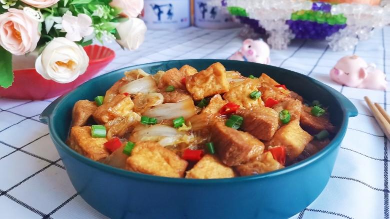 白菜炒豆腐,成品图!