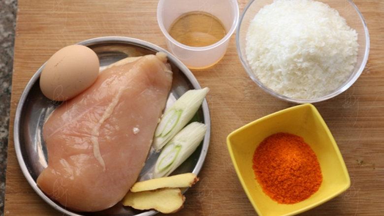 新奥尔良烤鸡米花,准备材料