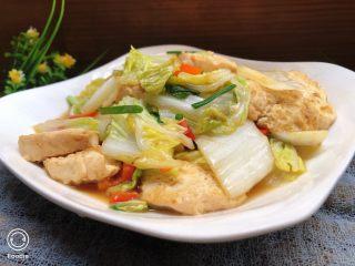白菜炒豆腐,成品近图