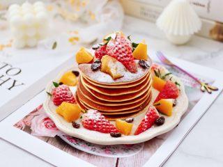 酸奶水果松饼,无油无水特别健康,低脂低卡多吃也不长肉肉哟!