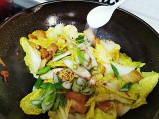 白菜炒豆腐,盐