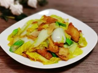 白菜炒豆腐,成品图