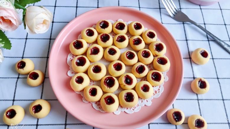 蓝莓一口酥!香酥蓝莓果酱小饼干🍪