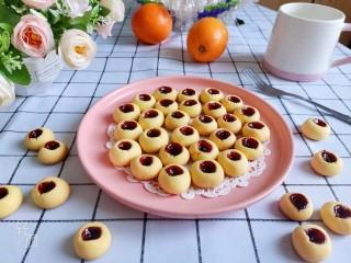 蓝莓一口酥!香酥蓝莓果酱小饼干🍪,成品图!