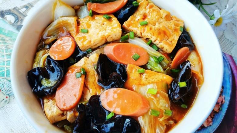 白菜炒豆腐,开吃!