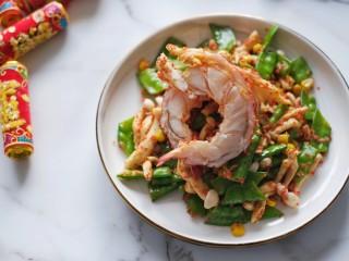 龙虾炒时蔬