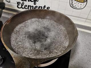 莲藕炒肉片,烧开水