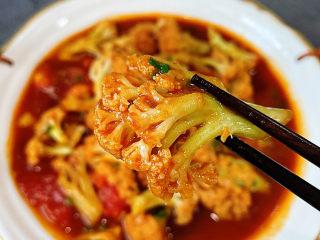 开胃番茄花菜,开胃爽口的一道菜