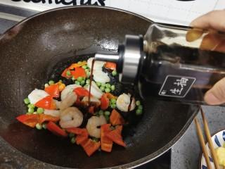 虾仁日本豆腐,生抽