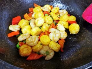 虾仁日本豆腐,翻炒均匀即可出锅