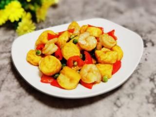 虾仁日本豆腐,成品图