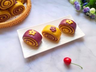 南瓜紫薯馒头
