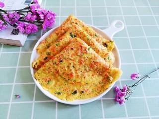 胡萝卜鸡蛋饼,美味又营养丰富的胡萝卜鸡蛋饼就做好了