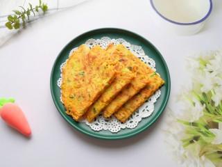 胡萝卜鸡蛋饼,味道好营养高。