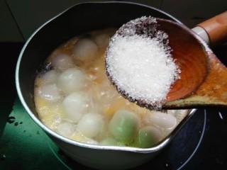 水果汤圆,加少许的白糖