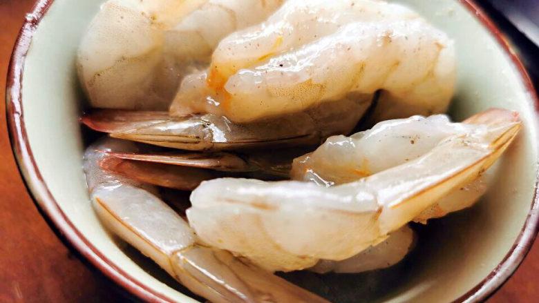 西红柿疙瘩汤,抓腌好虾仁