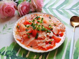 西红柿炒土豆片,成品图