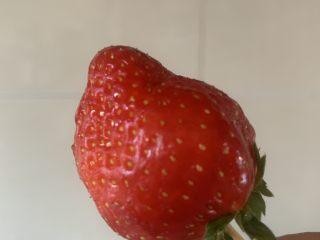 草莓糖葫芦,草莓串上