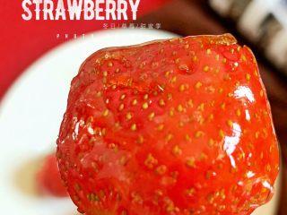 草莓糖葫芦,酸酸甜甜的味道