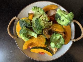 低脂时蔬烤鸡腿,一勺黑胡椒碎