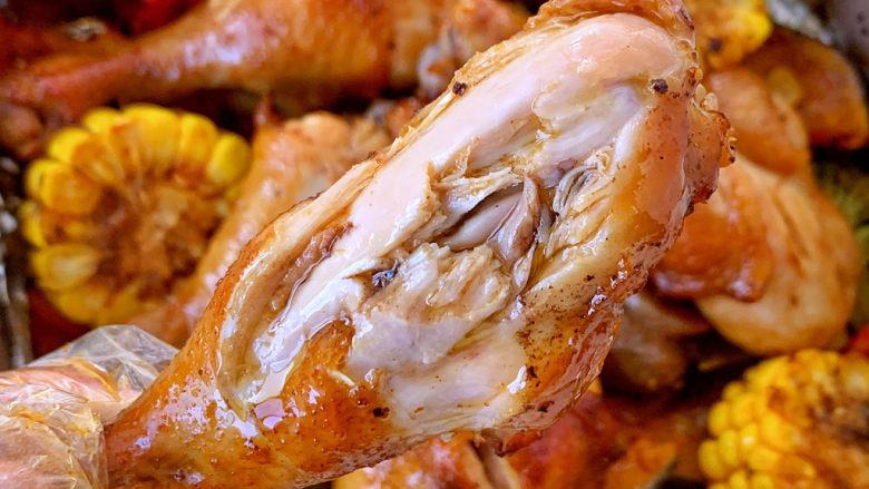 低脂时蔬烤鸡腿,超多汁