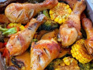 低脂时蔬烤鸡腿