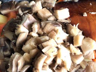 咖喱鸡肉米饭,加入平菇粒