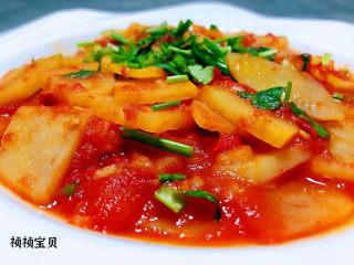 西红柿炒土豆片,这道美味酸酸甜甜还有鲜美的口感好喜欢