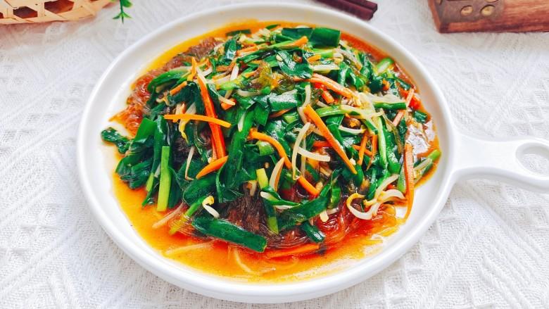 韭菜炒粉丝,成品图