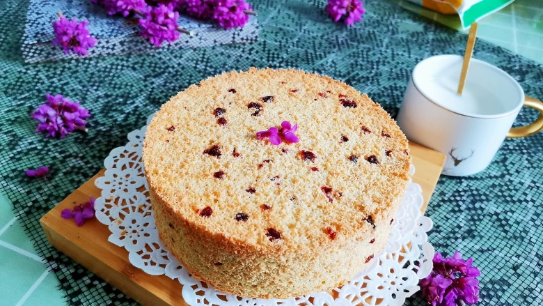 蔓越莓燕麦戚风蛋糕(无油无面粉少糖)