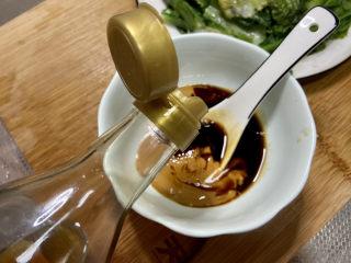 凉拌油麦菜➕麻酱油麦菜,一茶匙香油