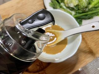 凉拌油麦菜➕麻酱油麦菜,半汤匙生抽