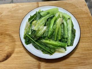 凉拌油麦菜➕麻酱油麦菜,油麦菜摆盘