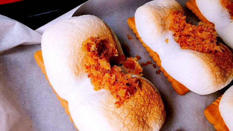 棉花糖饼干,安排上咸口的鱼松
