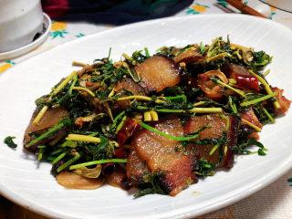 香椿炒腊肉,成品