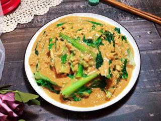 凉拌油麦菜➕麻酱油麦菜,成品