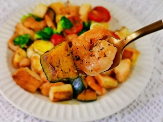 什锦虾仁,食材丰富,营养均衡。