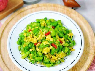 蚕豆炒鸡蛋,营养又健康