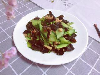 黄瓜炒木耳,美味的家常菜~