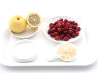 蔓越莓冻撞奶,首先备齐所有的食材。