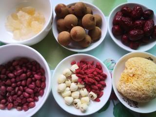 花生红枣汤,准备食材