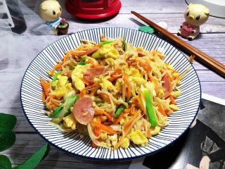 金针菇炒鸡蛋➕蒜苗火腿金针菇炒鸡蛋