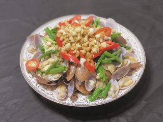 葱油花蛤,好吃的葱油花蛤就完成啦
