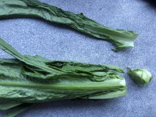蚝油油麦菜,去根部,老叶。