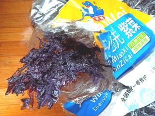 家常挂面,取紫菜