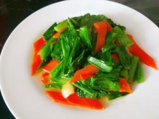蚝油油麦菜,成品图