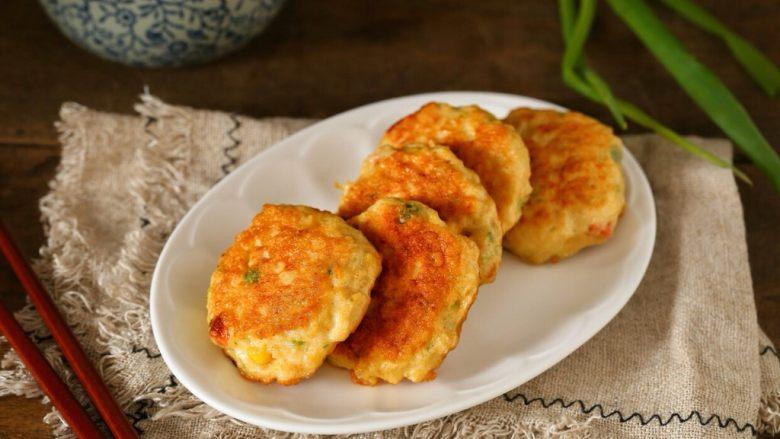 蔬菜鸡肉饼,既是家人的健康早餐、又是我的减肥餐,一举两得!